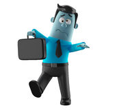 Cartoon businessman 3D office man in suit and tie Stock Photography