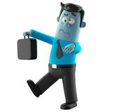 Cartoon businessman 3D office man in suit and tie Stock Image