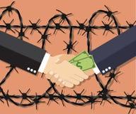 Cartoon Businessman giving a bribe. Stock Image