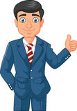 Cartoon businessman giving thumbs up Royalty Free Stock Photography