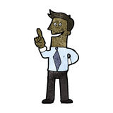 Cartoon businessman with great idea Royalty Free Stock Photo