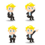 Cartoon businessman guesture Royalty Free Stock Images