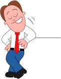 Cartoon Businessman Happy. Stock Photo