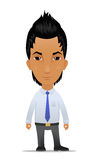 Cartoon businessman with modern hairstyle Stock Images