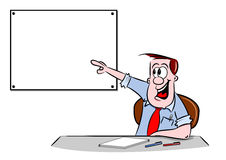 Cartoon Businessman in the Office Royalty Free Stock Images