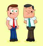 Cartoon Businessman Pair. Happy and talking. Stock Images