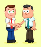 Cartoon Businessman Pair. Shaking hands. Stock Images