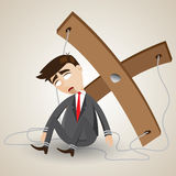 Cartoon businessman in puppet style. Illustration of cartoon businessman in puppet style stock illustration