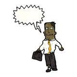 Cartoon businessman in rags Stock Photos