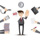 Cartoon businessman reject his work Stock Photo