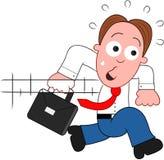 Cartoon Businessman Running. Stock Images