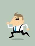 Cartoon businessman running Stock Photos
