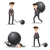 Cartoon businessman set of failure Royalty Free Stock Photography