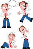 Cartoon Businessman Set Royalty Free Stock Photography