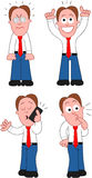 Cartoon Businessman Set Stock Images