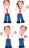 Cartoon Businessman Set Royalty Free Stock Photo