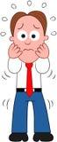 Cartoon Businessman Shocked. Stock Image