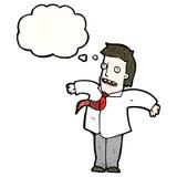 Cartoon businessman shrugging shoulders Stock Photos