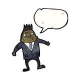 Cartoon businessman shrugging shoulders Royalty Free Stock Photography