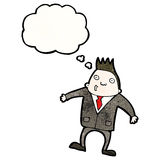 Cartoon businessman shrugging shoulders Royalty Free Stock Photo
