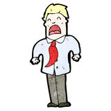 Cartoon businessman shrugging shoulders Royalty Free Stock Image
