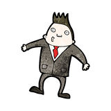 Cartoon businessman shrugging shoulders Royalty Free Stock Photos