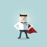 Cartoon businessman Superhero Royalty Free Stock Photo