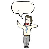 Cartoon businessman talking Royalty Free Stock Photo