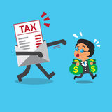 Cartoon businessman and tax letter. For design Royalty Free Stock Images