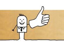 Cartoon businessman with thumb up royalty free illustration