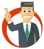 Cartoon businessman Stock Image