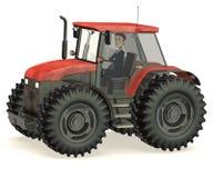 Cartoon businessman in tractor Royalty Free Stock Photos