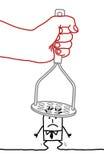 Cartoon businessman - under pressure Stock Photo