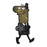 Cartoon businessman walking to work Stock Images
