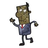 Cartoon businessman walking to work Stock Image