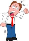 Cartoon Businessman Yelling. Stock Photos