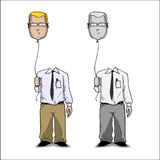 Cartoon businessmen. Royalty Free Stock Photos