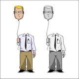 Cartoon businessmen. Royalty Free Stock Photos