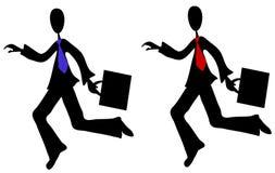 Cartoon Businessmen Running Stock Photos