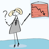 Cartoon businesswoman Stock Images