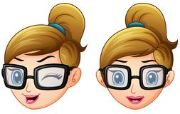 Cartoon businesswoman faces Royalty Free Stock Images