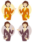 Cartoon businesswoman set Stock Photography