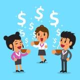 Cartoon businesswomen have a coffee break Royalty Free Stock Image
