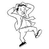 Cartoon Busy businessman - Vector Illustration Stock Image