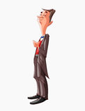 Cartoon butler character Stock Photography
