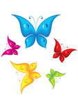 Cartoon butterflies Royalty Free Stock Photo
