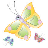 Cartoon butterflies Stock Photo