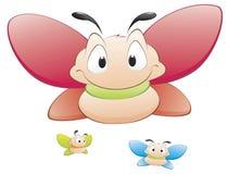 Cartoon Butterflies. Three cartoon  butterflies. Isolated objects for design element Stock Photos