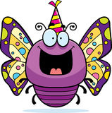 Cartoon Butterfly Birthday Party Stock Image