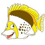 Cartoon butterfly fish Stock Images